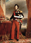 Louis Philippe I (6 October 1773 – 26 August 1850) was King of the French from 1830 to 1848 in what was known as the July Monarchy. The son of a duke who supported the French Revolution but was King Louis Philippe  of France. 1839 portrait by Franz Xavier Winterhalter (1805–1873)  (German painter), Medium Oil on canvas
