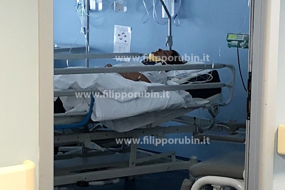 LA MADRE DEL BAMBINO GRAZIELLA ZAPPALA' RICOVERATA ALL'OSPEDALE DI CONA<br /> MORTALE BAMBINO FILIPPO PARTIGIANI SANT'EGIDIO
