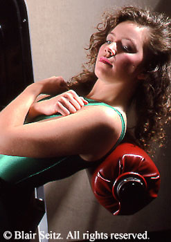 Health Spa, Nautilus Exercise, Fitness Club, PA Young Adult Female Works Out,