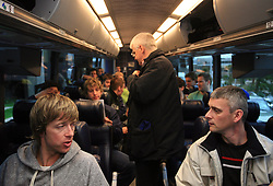 Andrej Brodnik, Bogdan Jakopic, Milan Dragan at Slovenian National team packing and going from Citadel Hotel to the Halifax airport, when they finished with games at IIHF WC 2008 in Halifax, on May 11, 2008, Canada. (Photo by Vid Ponikvar / Sportal Images)
