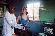 Dancing in their home, Gibara, Holguin, Cuba.