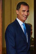 090315 King Felipe attends audiences at Zarzuela Palace