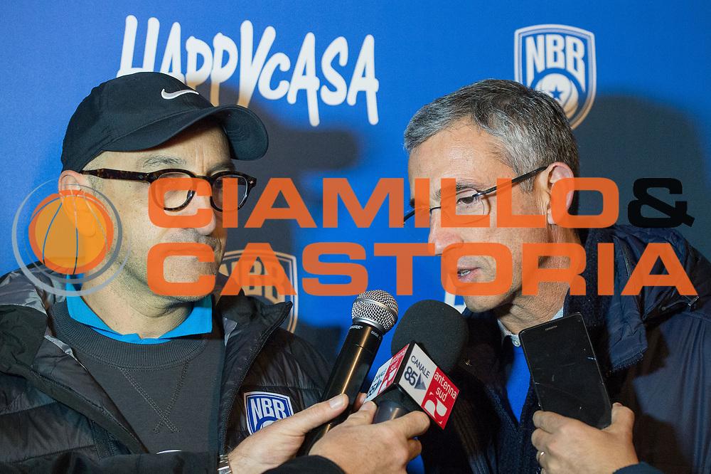 Francesco Vitucci , Marino Fernando<br /> Happycasa Basket Brindisi Presentazione Coach Vitucci<br /> Legabasket A 2017-2018<br /> Brindisi17 /12/2017<br /> Foto Ciamillo-Castoria/ M.Longo