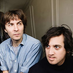 The french band Phoenix at their label's office. Paris, 10 march 2009. Photo: Antoine Doyen