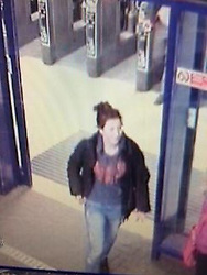 © Licensed to London News Pictures.  14/12/2013. OXFORD, UK. Collect photograph via Thames Valley Police of 17 year old JAYDEN PARKINSON at Didcot Parkway train station on 3 December, the last time she was seen. Police have arrested two men, aged 22 and 17, on suspicion of her murder and are searching a number of locations round the Didcot area. Photo credit: LNP
