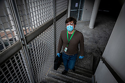 Milan - Coronavirus emergency. USCA Special Continuity Care Units. Dr. Lops visits a quarantined patient at home for being in contact with a positive. I arrive in the patient's home