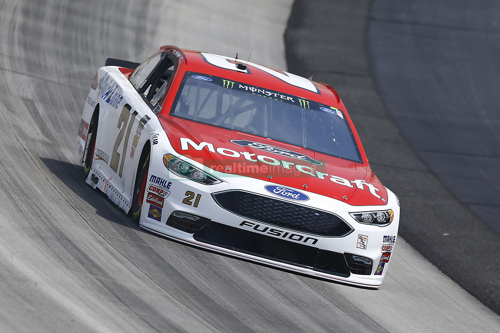 May 4, 2018 - Dover, Delaware, United States of America - Paul Menard (21) brings his car through the turns during practice for the AAA 400 Drive for Autism at Dover International Speedway in Dover, Delaware. (Credit Image: © Chris Owens Asp Inc/ASP via ZUMA Wire)
