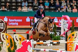 DREHER Hans-Dieter (GER), Perideaux<br /> Leipzig - Partner Pferd 2020<br /> FUNDIS Youngster Tour<br /> 2. Qualifikation für 8jährige Pferde <br /> Springprfg. nach Fehlern und Zeit, int.<br /> 18. Januar 2020<br /> © www.sportfotos-lafrentz.de/Stefan Lafrentz