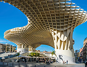 Metropol Parasol is a wooden structure located at La Encarnacion square, in the old quarter of Seville, Spain. It was designed by the German architect Jürgen Mayer and completed in April 2011