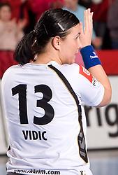 Urska Vidic of Krim at handball match of Round 5 of Champions League between RK Krim Mercator and Metz Handball, France, on January 9, 2010 in Kodeljevo, Ljubljana, Slovenia. (Photo by Vid Ponikvar / Sportida)