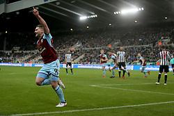 Burnley's Sam Vokes celebrates their first goal