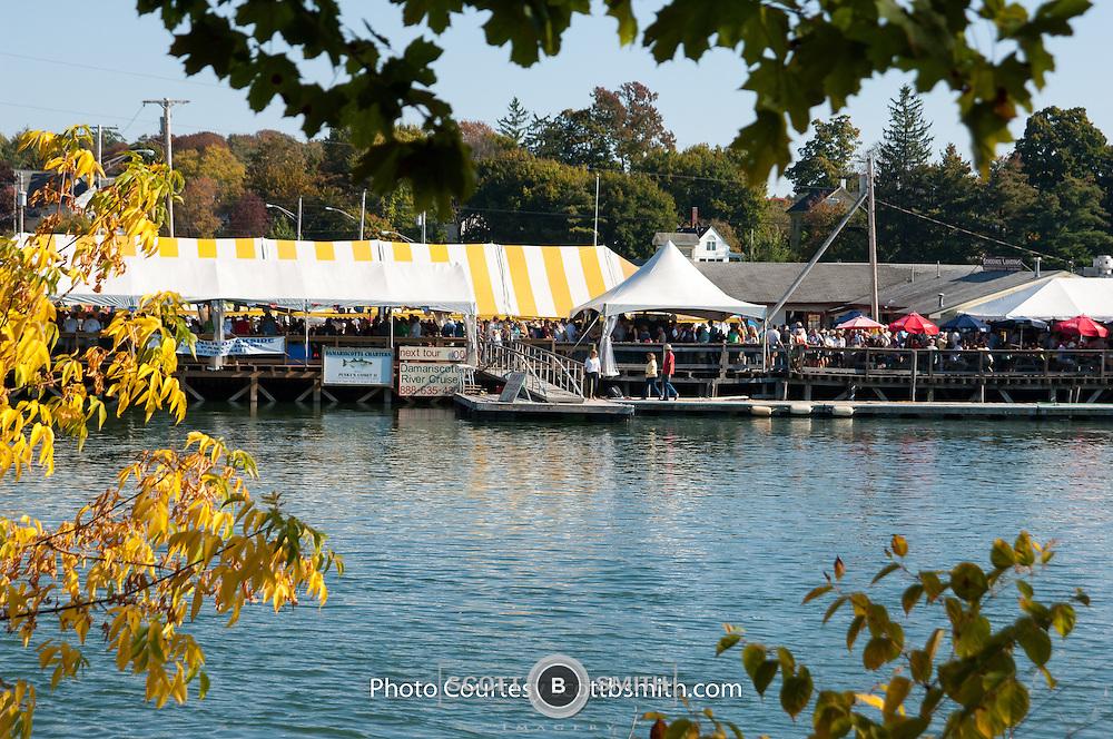 2016 Pemaquid Oyster Festival, Damariscotta, Maine held each year at Schooner Landing Restaurant