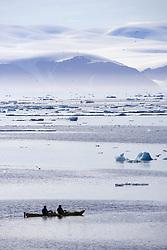 July 21, 2019 - Kayaking Ice Berg Off Coast Of Nunavut, Canada (Credit Image: © Richard Wear/Design Pics via ZUMA Wire)