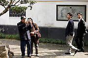 Visitors in the Yu Gardens, Shanghai, China