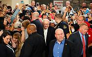 Berkshire Hathaway CEO Warren Buffett arrives to play table tennis as part of the Berkshire Hathaway annual meeting weekend in Omaha, Nebraska, U.S. May 7, 2017. REUTERS/Rick Wilking