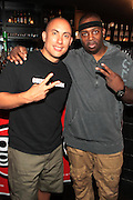 New York, NY-June 13 : (L-R) Chang Weisberg, Founder, Guerilla Union and HipHop Recording Artist Eric Sermon attends The ROCK THE BELLS FESTIVAL SERIES Press Conference and Launch Party produced in association with Boost Mobile and Guerrilla Union powered by Blackberry held at the Santos Party House on June 14, 2012 in New York City. Established in 2000, Guerilla Union has developed into one of the premiere core urban lifestyle brands in the U.S., manifesting itself in many forms including music, events, media and fashion. Guerilla Union's mission is to create experiential platforms, unique content and provide services that develop artists and their communities..(Photo by Terrence Jennings)