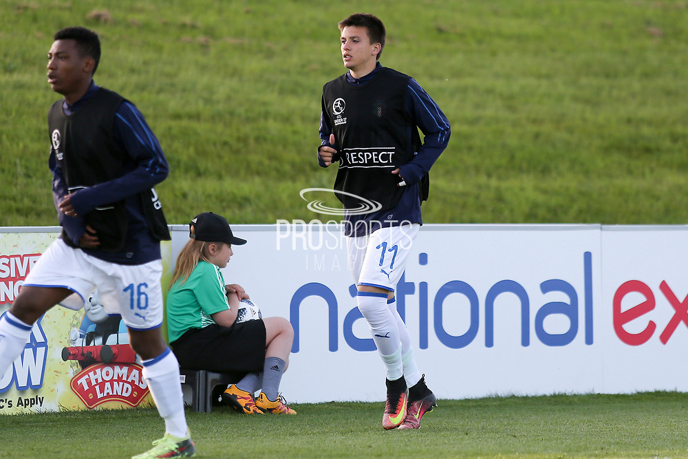 Andrea Mattioli of Italy (11) during the UEFA European Under 17 Championship 2018 match between Israel and Italy at St George's Park National Football Centre, Burton-Upon-Trent, United Kingdom on 10 May 2018. Picture by Mick Haynes.
