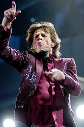 Mick Jagger. Rolling Stones play live at the Don Valley Stadium Sheffield. A Bigger Bang Tour 27th August 2006<br /> Copyright Paul David Drabble