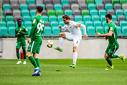 Damjan Trifkovic of NK Rudar Velenje vs Suljic Asmir of NK Olimpija Ljubljanaduring football match between NK Olimpija Ljubljana and NK Rudar Velenje in 25rd Round of Prva liga Telekom Slovenije 2018/19, on April 7th, 2019 in Stadium Stozice, Slovenia Photo by Matic Ritonja / Sportida