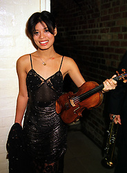 Violinist VANESSA-MAE at a gala evening in London on 6th October 1999.<br /> MXH 7