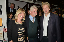 Left to right, RACHEL JOHNSON, STANLEY JOHNSON and JO JOHNSON at a party to celebrate the publication of Stanley I Resume by Stanley Johnson at the Daunt Bookshop, Marylebone High Street, London on 23rd September 2014.