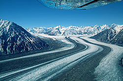 Flying over the Kaskawulsh Glacier, Kluane National Park, Yukon
