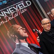 NLD/Amsterdam/20150208 - Herpremiere Sonneveld, Stanley Burleson en partner Marcel Visscher