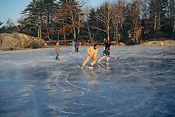 Playing Hockey On Muscongus Bay