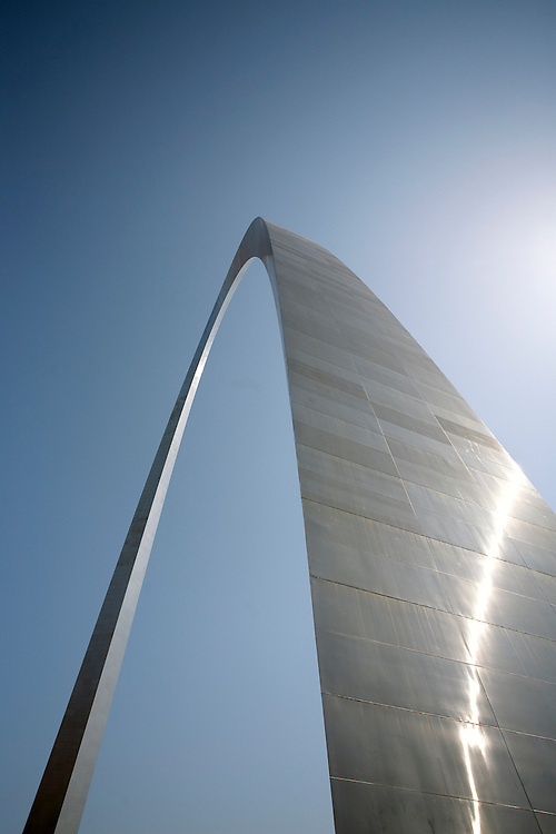 The dramatic Gateway Arch in St. Louis, Missouri.