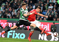 LISBON, Feb. 4, 2019  Seferovic (R) of Benfica vies with S. Coates of Sporting during the Portuguese League soccer match between SL Benfica and Sporting CP in Lisbon, Portugal, Feb. 3, 2019. Benfica won 4-2. (Credit Image: © Xinhua via ZUMA Wire)