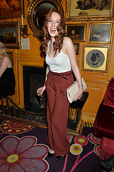 CHARLOTTE SPENCER at an exclusive performance by Mark Ronson at Annabel's, Berkeley Square, London on 2nd March 2016.