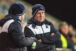 Falkirk's manager Peter Houston. Falkirk 2 v 0 Livingston, Scottish Championship game played 29/12/2015 at The Falkirk Stadium.
