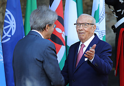 27.05.2017, Taormina, ITA, 43. G7 Gipfel in Taormina, im Bild Paolo Gentilen und Beji Caid Essebsi, Präsident der Tunesischen Republik // Italy's Prime Minister Paolo Gentiloni, Beji Caid Essebsi, President of the Tunisian Republic during the 43rd G7 summit in Taormina, Italy on 2017/05/27. EXPA Pictures © 2017, PhotoCredit: EXPA/ SM<br /> <br /> *****ATTENTION - OUT of GER*****