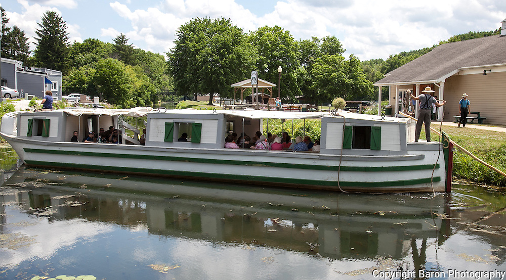 St Helena canal boat in Canal Fulton