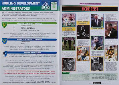 All Ireland Senior Hurling Championship - Final,.11.09.2005, 09.11.2005, 11th Septemeber 2005,.Minor Galway 3-12, Limerick 0-17,.Senior Cork 1-21, Galway 1-16,.11092005AISHCF,.
