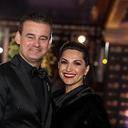 NLD/Amsterdam/20171012 - Televizier-Ring Gala 2017, Wilfred Genee en partner Lilly Pirayesh