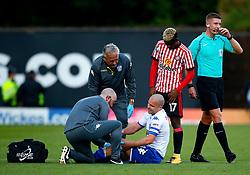 Stephen Dawson of Bury receives treatment for an injury - Mandatory by-line: Matt McNulty/JMP - 10/08/2017 - FOOTBALL - Gigg Lane - Bury, England - Bury v Sunderland - Carabao Cup - First Round