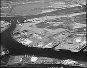 "ackroyd_20872-4. ""Brady Hamilton. Aerials Rivergate, high level, Hayden Island. not sharp enough for big prints"" (DEQ Site ID 2355, International Terminals, North Burgard Industrial Park, Old Oregon Shipyard, Schnitzer Burgard Industrial Park)"