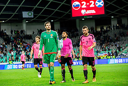 Craig  Gordon of Scotland after the football match between National Teams of Slovenia and Scotland of Fifa 2018 World Cup European qualifiers, on October 8, 2017 in SRC Stozice, Ljubljana, Slovenia. Photo by Vid Ponikvar / Sportida