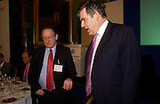 Prof David Denver and Gordon Brown, Political Studies Association Awards 2004. Institute of Directors, Pall Mall. London SW1. 30 November 2004.  ONE TIME USE ONLY - DO NOT ARCHIVE  © Copyright Photograph by Dafydd Jones 66 Stockwell Park Rd. London SW9 0DA Tel 020 7733 0108 www.dafjones.com