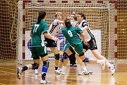 Last 10th Round handball match of Slovenian Women National Championships between RK Krim Mercator and RK Olimpija, on May 15, 2010, in Galjevica, Ljubljana, Slovenia. Olimpija defeated Krim 39-36, but Krim became Slovenian National Champion. (Photo by Vid Ponikvar / Sportida)
