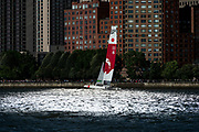 SailGP racing on the Hudson river. Team Japan. Race Day 1 Event 3 Season 1 SailGP event in New York City, New York, United States. 21 June 2019. Photo: Chris Cameron for SailGP. Handout image supplied by SailGP