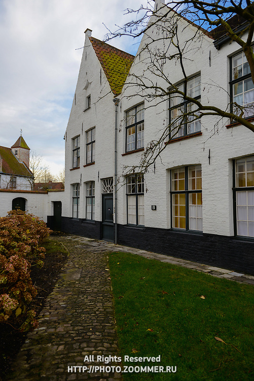 Begijnhof Houses In Brugge, Belgium