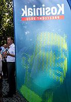 Augustow, woj. podlaskie, 11.06.2020. Spotkanie Wladyslawa Kosiniaka-Kamysza, kandydata PSL w wyborach prezydenckich 2020, z mieszkancami na Rynku Zygmunta Augusta N/z Wladyslaw Kosiniak-Kamysz lider PSL i kandydat tej partii w wyborach prezydenckich fot Michal Kosc / AGENCJA WSCHOD