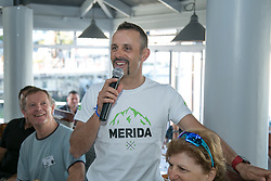 Jose Hermida, at the Amabubesi breakfastduring the pre race events held at the V&A Waterfront in Cape Town prior to the start of the 2017 Absa Cape Epic Mountain Bike stage race held in the Western Cape, South Africa between the 19th March and the 26th March 2017<br /> <br /> Photo by Mark Sampson/Cape Epic/SPORTZPICS<br /> <br /> PLEASE ENSURE THE APPROPRIATE CREDIT IS GIVEN TO THE PHOTOGRAPHER AND SPORTZPICS ALONG WITH THE ABSA CAPE EPIC<br /> <br /> ace2016