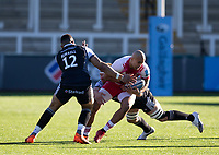 Rugby Union - 2020 / 2021 Gallagher Premiership - Round 11 - Newcastle Falcons vs Harlequins - Kingston Park<br /> <br /> Aaron Morris of Harlequins is tackled by Callum Chick of Newcastle Falcons<br /> <br /> Credit: COLORSPORT/BRUCE WHITE