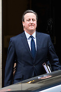 Cameron Leaves Downing Street 210316