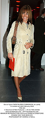 Social figure TARA PALMER-TOMKINSON, at a party in London on 24th February 2004.<br /> PSA 363