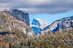 Big Oak Overlook of Half Dome and El Capitan in Yosemite National Park