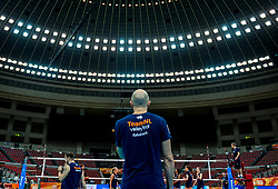 06-10-2018 JPN: World Championship Volleyball Women day 7, Nagoya<br /> Press conference coaches group Nagoya after training day for Netherlands and Brazil / Coach Jamie Morrison of Netherlands